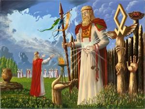 в святилище бога Прове-Иванов