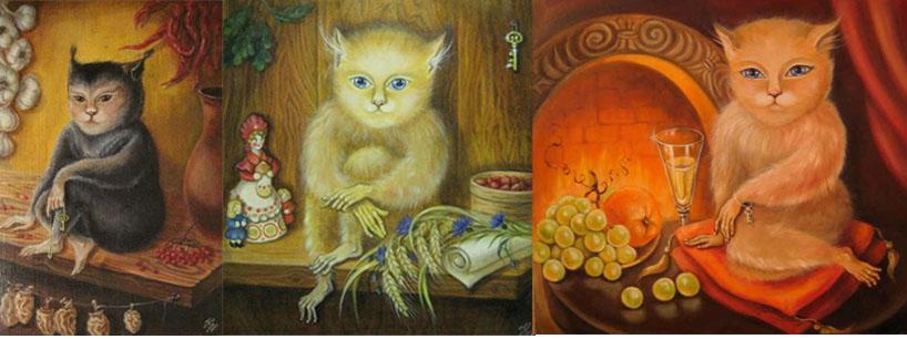 Хозяйка-Домовушка, Боровской Домовой и ПитерскаяДомовушка на картинах Натальи Кондюриной