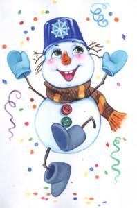 мороз-снеговик
