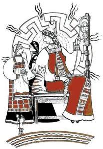 Богиня Макошь, Доля и Недоля в своем небесном чертоге, Юлия Никитина
