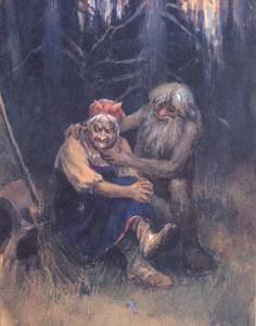 Баба-Яга и Леший