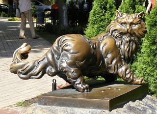 кот баюн-славянские мифы сказочный памятник