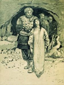 Добрыня Никитич и Забава Путятишна, Худ.А.Рябушкин