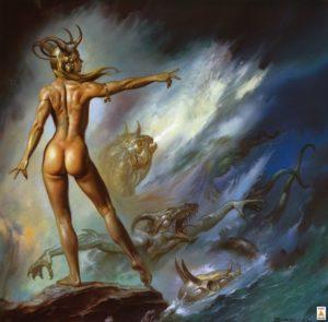 Лилит - королева демонов, Худ.Борис Валенджо