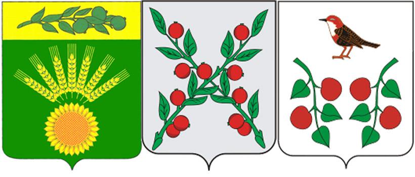 Яблоневые ветки на гербах Центрального СП , г.Чаплыгин и Бирского района