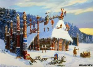 Храм бога Знича.Зима. Худ.В.Иванов