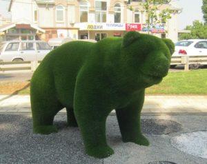 Медведь на Бородинской аллее Краснодара, фото Наты.