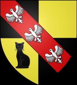 Черная кошка нагербе коммуны Сен-Реми-о-Буа (регион Мёрт и Мозель, Франция)