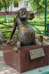 1-волк памятник-Томск