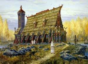 Осень. Храм Хорса. Худ.В.Иванов