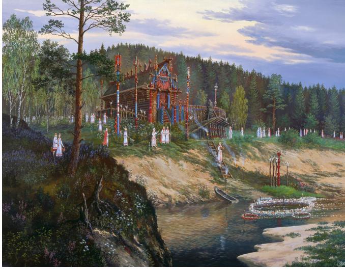 Иванов-Подношение духам реки