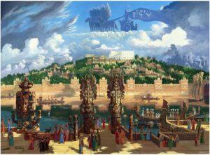 Иванов-Вид на центральную часть столицы Атлантиды. Храм Посейдона,