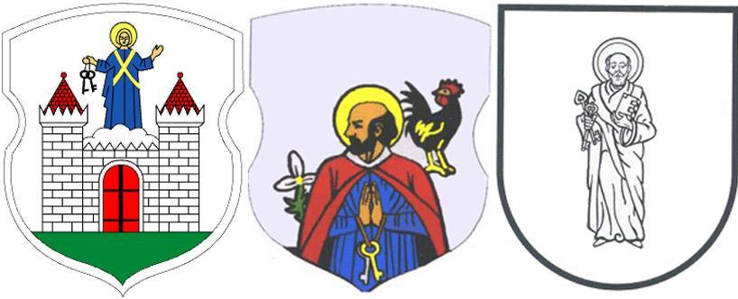 Апостол Петр на гербах г.Борисов, с.Малеч иБрацлава