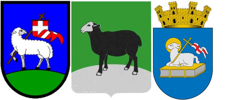Овца на гербах Дравоград, г.Бугуруслан иАндорра