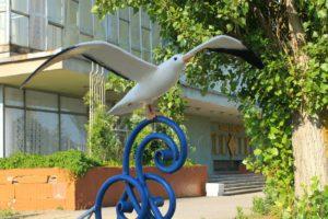 Памятник чайке в Бердянске