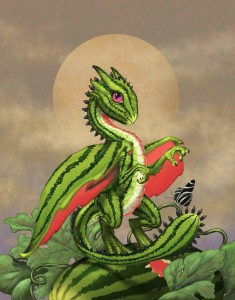 Арбузный дракончик