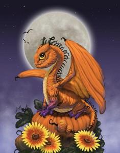 Тыквенный дракончик