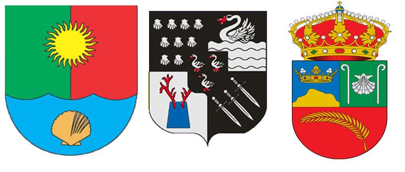 Морские гребешки на гербах Сакского района, города Яббеке и Эль-Серро