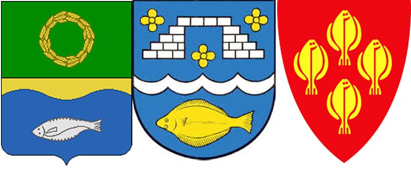 Камбала на гербах Зеленоградского района,  Штайн  и Иннерёй