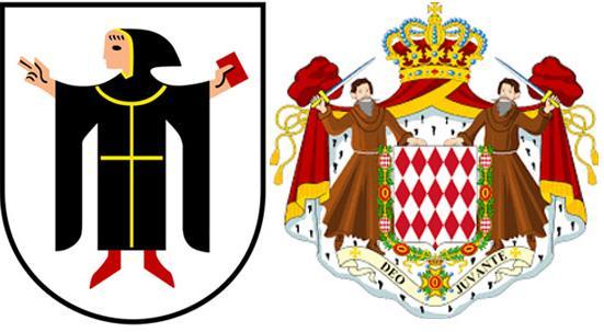 Монахи на гербег.Мюнхена и Монако