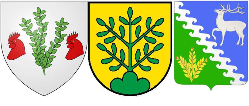 Самшит на гербах Бюсьэр-Галан,Обербукситен и Нижегородского СП
