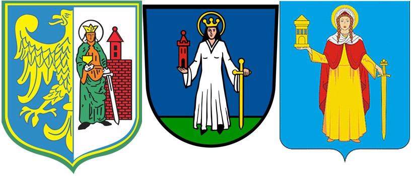 Святая Варвара на гербе города Струмень,  г.Форст и  ГО Власиха