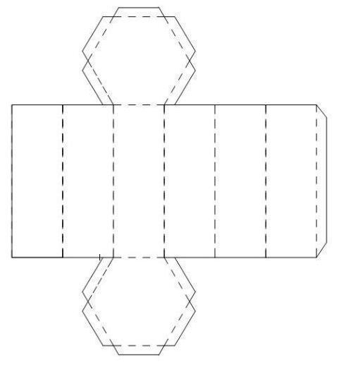 Как сделать шестиугольную призму из бумаги схема вопрос повторился