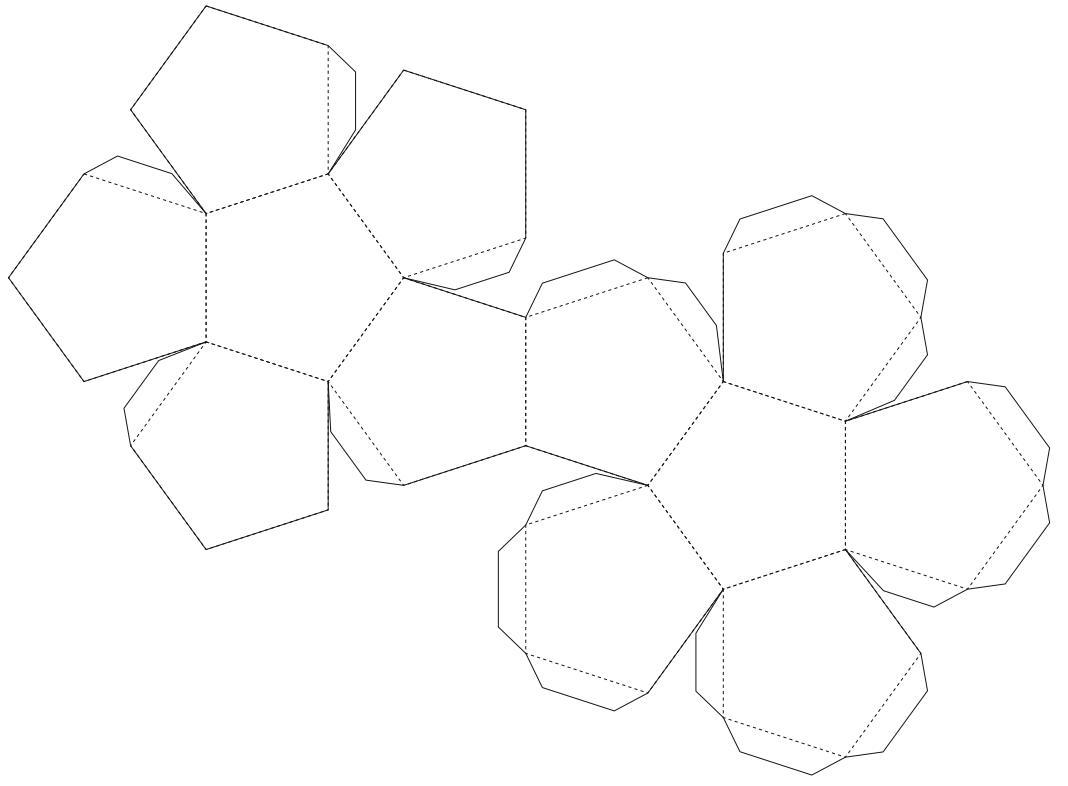 Инструкция как сделать додекаэдр из картона схема пошаговая
