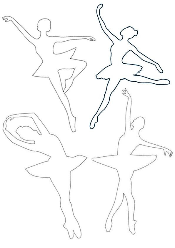 Схема балерины для снежинки распечатать