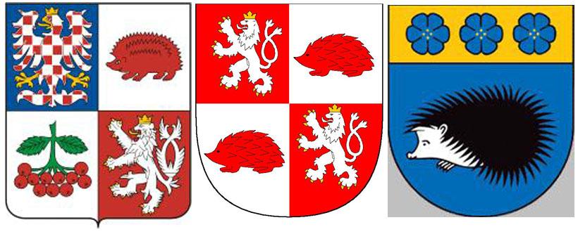 Ежик есть на гербах в крае Высочина в Чехии и на г.Йиглава - центра Высочины, а также на гербе Виляки в Латвии.