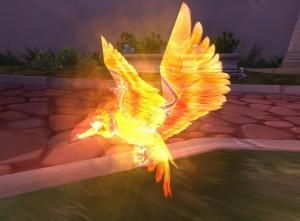 птица стихии огня