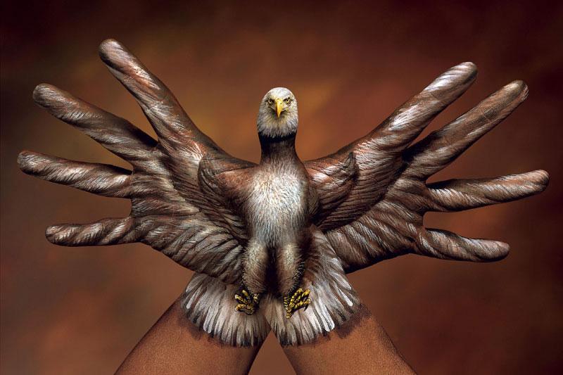 -боди-арт-белоголовый орлан