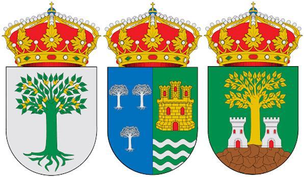Фисташковое дерево на гербах  Альмендралехо,  Ла-Фрехенеда и Эль-Альмендро