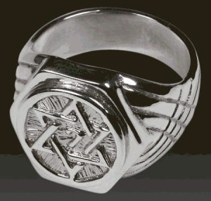 Так выглядит кольцо со звездой Соломона
