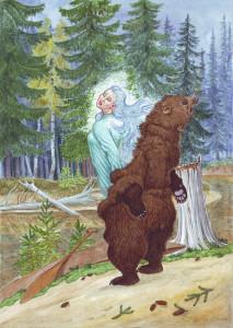 оборотень Превращение медведицы, Худ.Н.Фомин