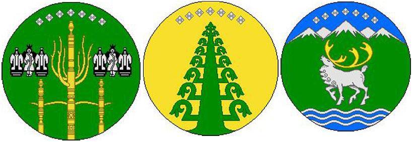 Алмазы на гербах с.Сунтар, Таттинского наслега и Томпонского улуса, (Саха-Якутия).