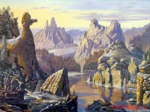 Священное озеро Сиверских гор, Худ.В.Иванов