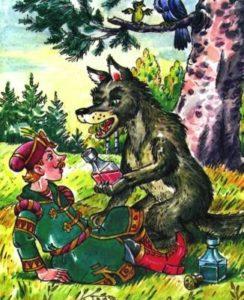-вода живая и мертвая-иван и волк