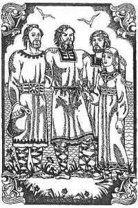 Кий, Щек, Хорив и сестра Лыбедь, Худ.Н.Антипова