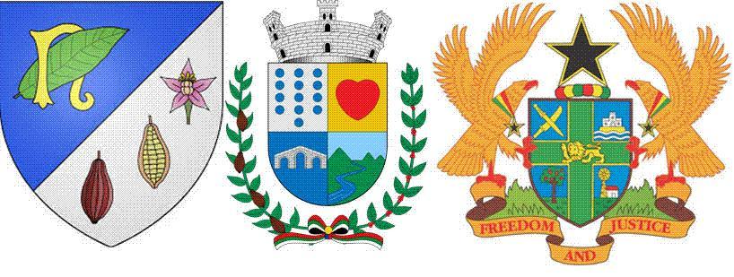 Какао на гербах Нуазьэль, Тулуа и Ганы