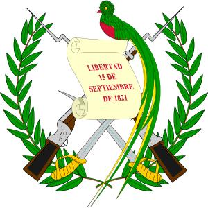 Кетцаль на гербе Гватемалы