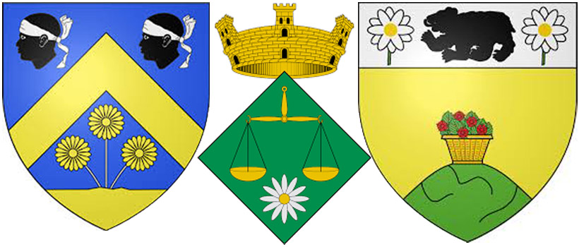 Маргаритки на гербах  Ласказер, Сан-Микель-де-КампмажориЛур-Барус