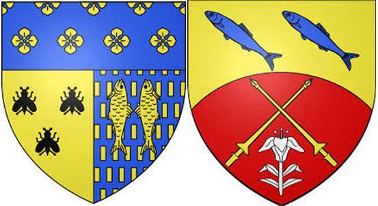 Пескарьна гербах Вилье-Сен-Фредерик иСьймон