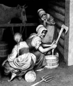 Порча молока, Худ.Н.Бессонов