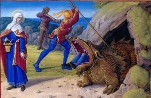 Святая Марта у пещеры крылатого Тараски