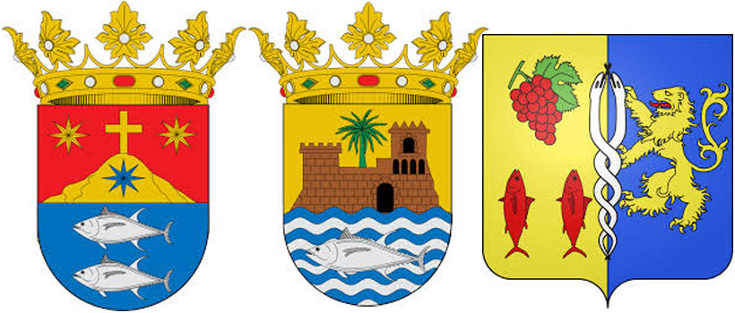 Тунецна гербах  Барбате,  Саара де лос Атунес  и Ле-Гро-дю-Руа