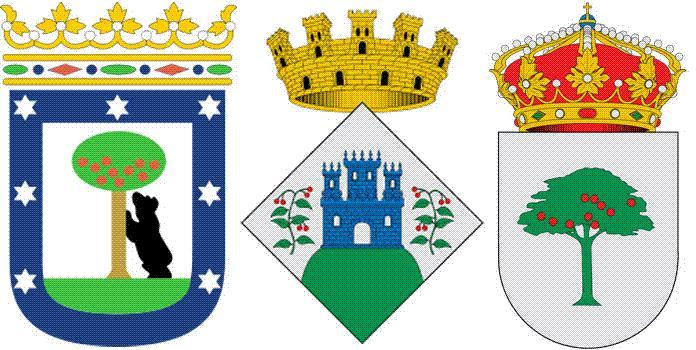 Земляничное дерево на гербе Мадрида, Арбусьес и Эль-Мадроньо