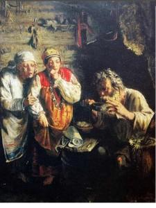 Деревенский знахарь, Худ.Г.Мясоедов