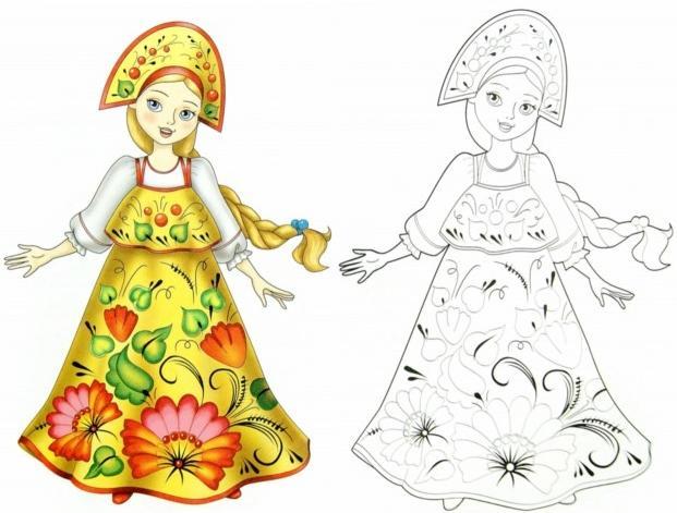 Костюм по мотивам Урало-сибирской росписи