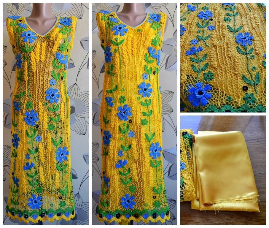 платье-васильки
